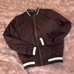 small maroon american eagle bomber jacket